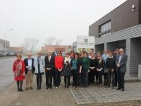 Bezoek Vlaamse parlementsleden aan maatwerkbedrijf Footstep